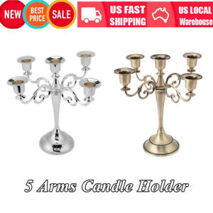 Wedding-Home-Decor-5-Arms-Metal-Crafts-Candelabra-Alloy-Candle-Holder-Stand