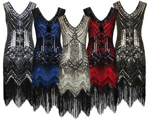 1920-039-s-Great-Gatsby-Costume-Evening-Party-Sequin-Tassel-Flapper-Dress