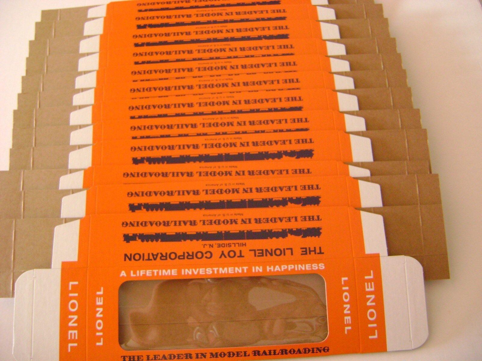 Lionel 6014. con licencia reproducción coche ventana Cajas (una docena de cajas)