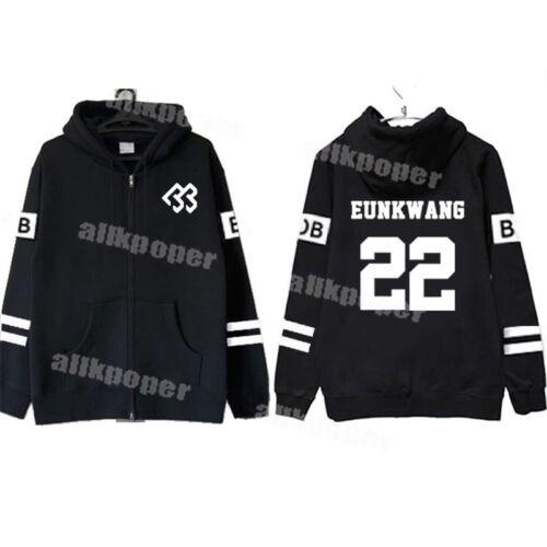 Korean Pop Eel né à battre Zipper sweat à capuche unisexe Eunkwang Manteau minhyuk Hyunsik