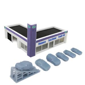 Outland Models Railway Scenery Car Dealership Building 1:220 Z Gauge