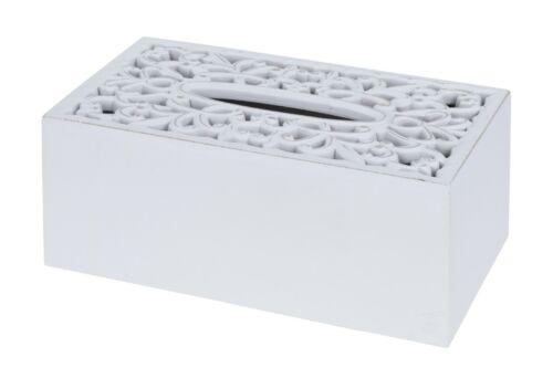 Kosmetiktücherbox Holz Kosmetiktücherhalter Box Kosmetiktücher weiß shabby