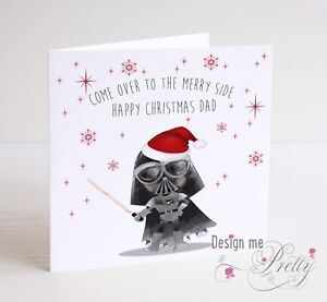 image is loading star wars darth vader christmas card father son
