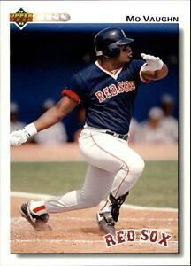 Lot-Of-90-1992-Upper-Deck-Baseball-Mo-Vaughn-Card-445
