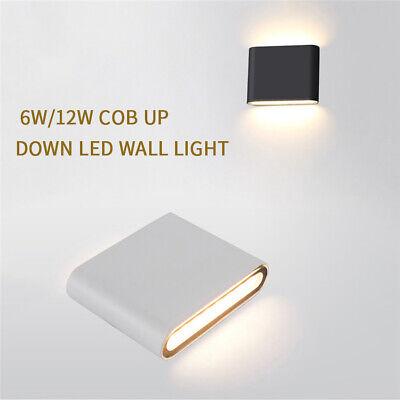 1//10pcs COB 6W 12W LED Wall Light Up /& Down Sconce Lamp Light Fixture IP65 LTW