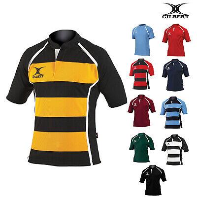 Gilbert Rugby Xact Match Shirt Per Bambini Gi01j-camicia Con Colletto Traspirante Sport-mostra Il Titolo Originale Nutriente I Reni Alleviare I Reumatismi