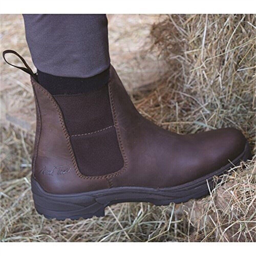 Mark Todd Short Kiwi Imperméable bottes marron-Taille 39-travail JODHPUR Yard