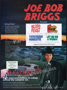 JOE BOB BRIGGS: Sleaziest Movies__Orig. 1990 Trade AD / ADVERT__Nude on the Moon