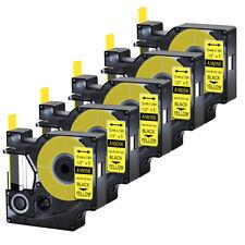 5pk For Dymo Rhino 42005200 Heat Shrink Tube 18056 Industry Label Tape 12x5