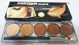 KISS BEAUTY (SHADE-2) 5 COLOR CONTOUR PALETTE CONCEALER 24 HR LONG LASTING-9547-