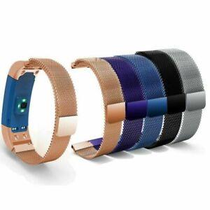 Armband-Uhrenarmband-Fuer-Garmin-Vivosmart-HR-Approach-X10-X40-Edelstahl-Magnet