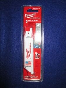 MILWAUKEE-49-00-5418-4-034-HACKZALL-BLADES-PACK-OF-5-EMT-NEW