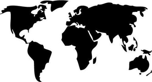 Mapa del mundo Stencil-A4//A5//A6