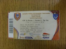 30/09/2011 Ticket: FCM TG Mures v Pandurii TG Jiu (creased). Any faults with thi