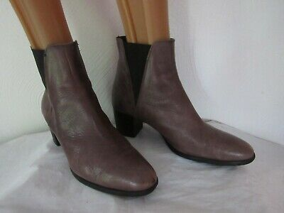 huge discount 1eaac 79763 PAOLA FERRI by ALBA MODA Taupe Ankle Boots Elasticated Inserts Slip-On Size  40/9 | eBay