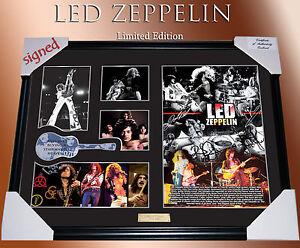 led zeppelin music memorabilia signed framed ltd edtion ebay. Black Bedroom Furniture Sets. Home Design Ideas