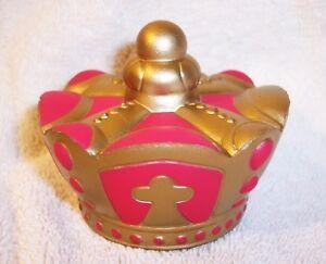 ***CROWN***STR<wbr/>ESS BALL*** regal tiara king hat headwear toy CROWN ROYAL novelty