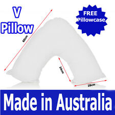 MADE IN AUSTRALIA 900g filled BOOMERANG  V TRI Shaped Pillow + FREE Pillowcase