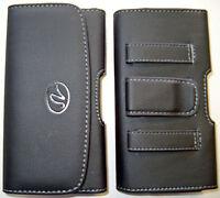 H078 Small Samsung Galaxy S6 Horizontal Phone Case Pouch Black, Belt Loop & Clip