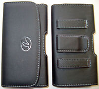 H078 Small Samsung Galaxy J1 Horizontal Phone Case Pouch Black, Belt Loop & Clip