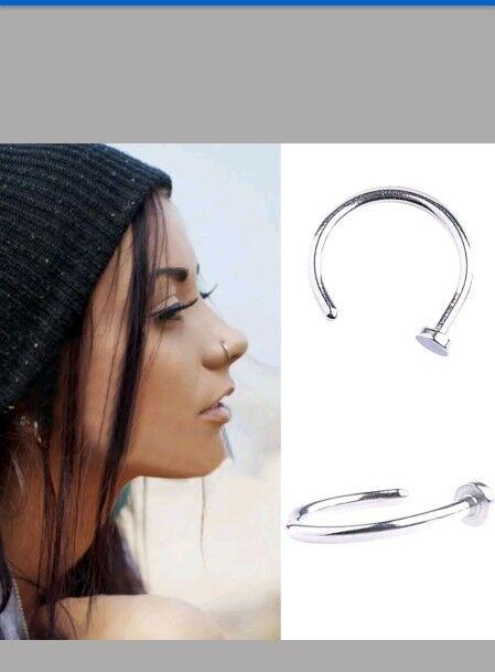 Fake Septum Piercing Ring Nose Piercing Crystal Nose Ring Clip On