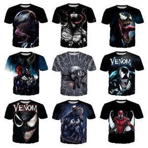 New Women's/men's movie Venom 3D print Short Sleeve Casual Tops T-Shirts S-5XL