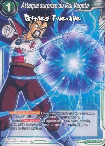 ALT Dragon Ball Super Card Game Attaque Surprise du Roi Vegeta BT1-079 VF//UC