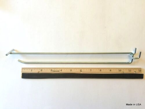 """100 PACK 11/"""" MEGA Flip Scan Metal Peg Hooks W//Label Holder 3//16-1//4 Pegboard"""