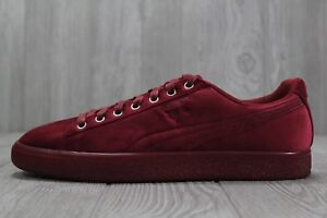 detailed look 1f312 16e83 Details about 35 New Puma Clyde Velour Ice Red Men's Shoes Size 9 11 366549  04