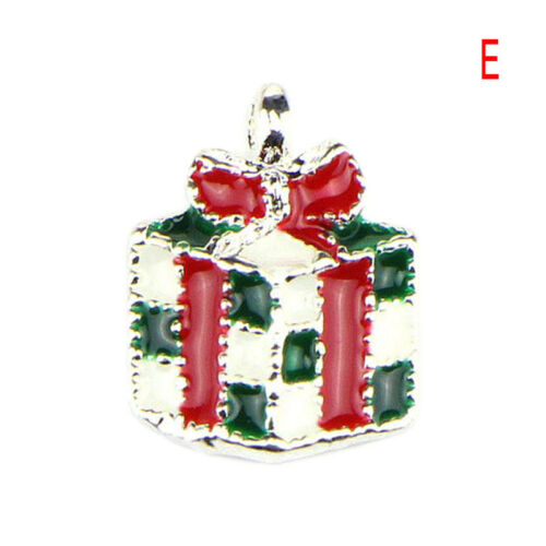 10PCS//Set Enamel Christmas Beads Charms Pendant Carfts DIY Jewelry FindingPlF