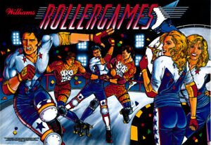 AgréAble Williams Rollergames Bille Jeux Flipper Machine Translite