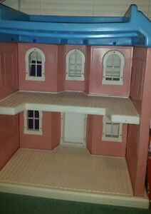 Image Is Loading Little Tikes My Size Barbie Pink Doll House