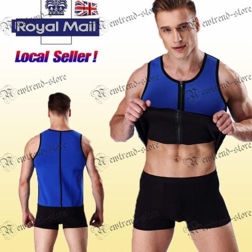 Sauna Suit Tank Top for Men Workout Shaper Weight Loss Shirt Waist Trainer Sweat