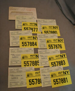 8 Hut NY, New York State, Dept Of Taxation & Finance, 8 Highway Use Permit Cards