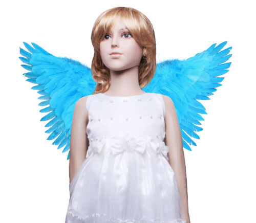 Childrens Butterfly Style costume feather angel wings avaiable black white blue