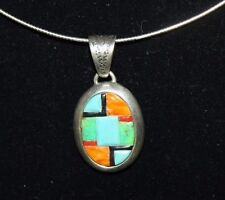 """Turquoise Spiny Oyster Gaspeite 18""""Neck Wire Flexible .925 Sterling Silver"""