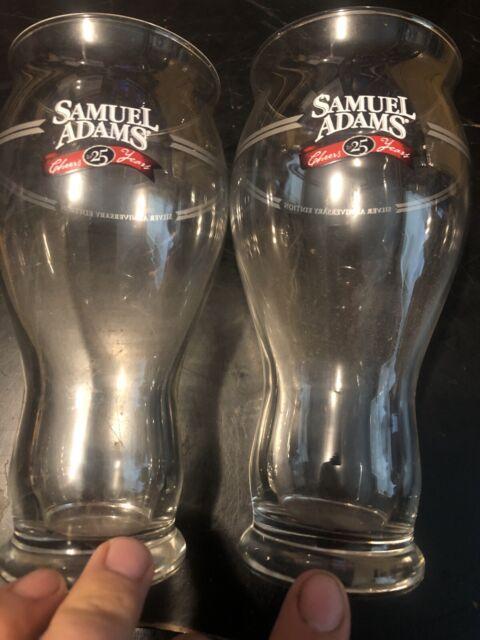 Lot of 2 Sam Adams Boston Lager Glasses  For The Love Of Beer Pint Glasses New