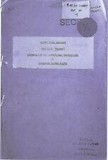 RARE/ARNHEM/20 PAGE PHOTOCOPY/GLIDER PILOT REGT OPERATION MARKET GARDEN REPORT