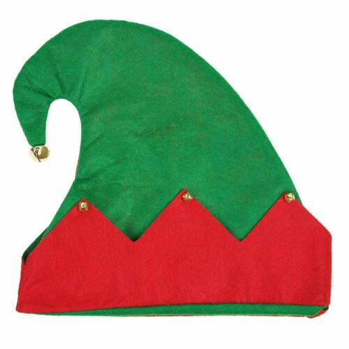 Christmas Deluxe Velvet Novelty Hat With Bell And Elf Shoes Unisex Fancy Dress