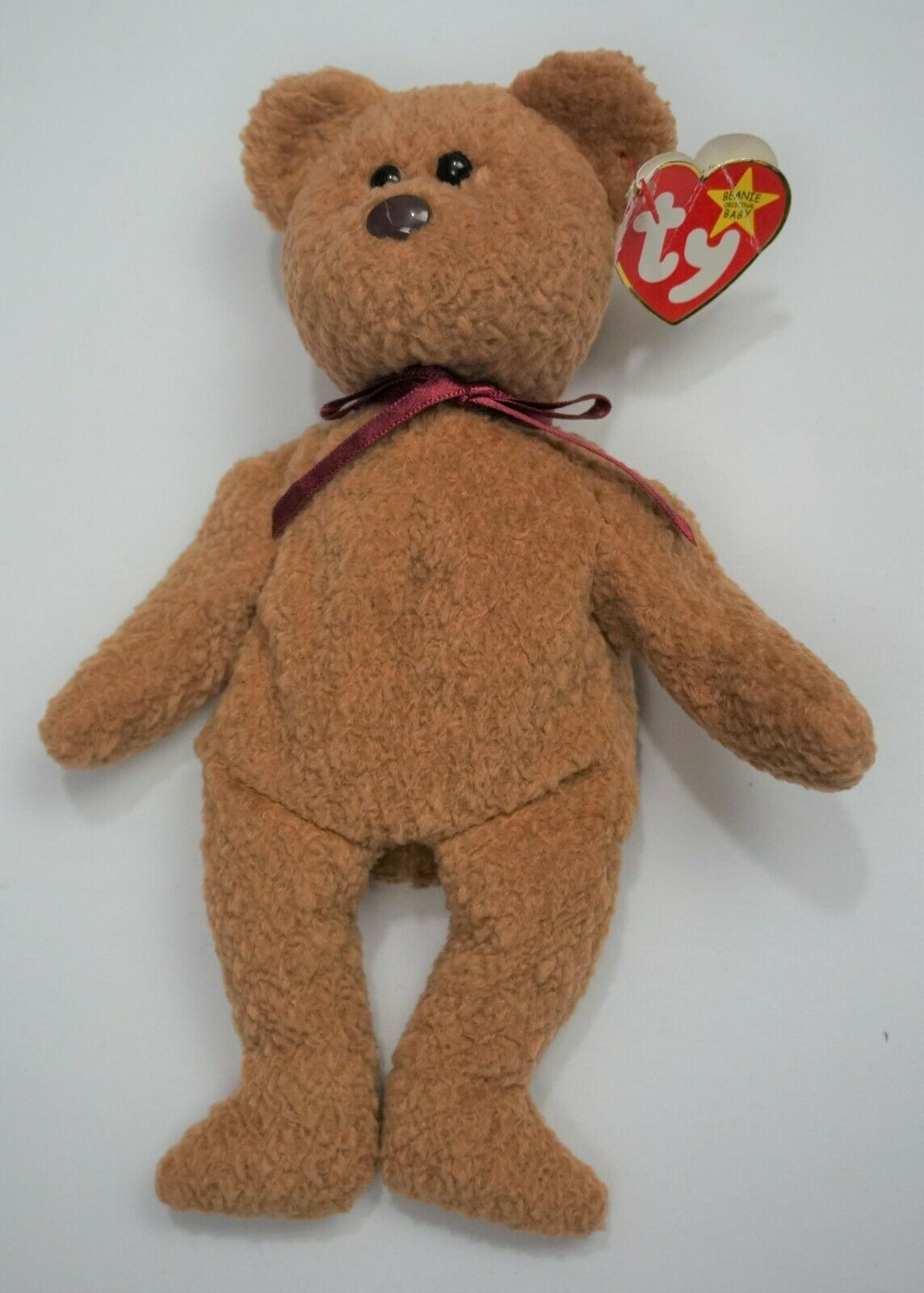 Rare vintage TY Beanie Baby 1996 Curly The Bear Retired with 15 Errors