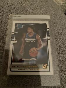 Anthony Edwards 2020-21 Panini Donruss #201 Rated Rookie Card Timberwolves RC