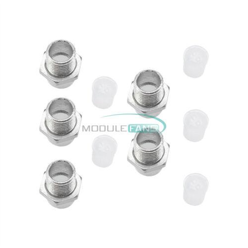 20PCS 5MM Bisel De Plata Metal Cromo Soporte Led Pantalla de Panel Montaje de la base de goma