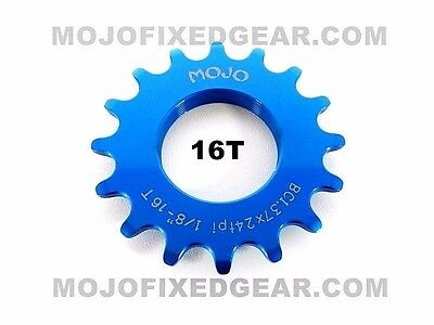 BLUE MOJO Fixed Gear Lockring Fits all cog sizes CNC Cro-Mo
