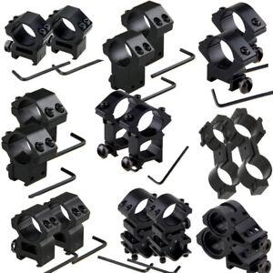 Pair-Hunting-lamp-gun-scope-torch-mount-dovetail-weaver-picatinny-rail