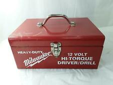 Milwaukee 48 55 1575 Steel Carrying Case For 12v Hi Torque Driverdrill Tool