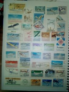 AVIONS-LOT-TIMBRES-SELLOS-TIMBRES-STAMPS