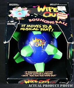 Vintage-Kay-Bee-Toys-Wipe-Out-Motorized-Vibrating-Bouncing-Bumble-Ball