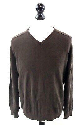 Calvin Klein Da Uomo Maglione Pullover M Cotone Marrone Medio-mostra Il Titolo Originale Per Migliorare La Circolazione Sanguigna