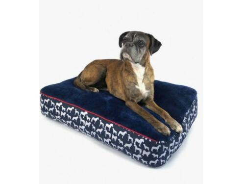 Whitaker Dog Pillow Stanbury Marine Rouge /& Blanc-Chiot Lit Coussin Animal Doux