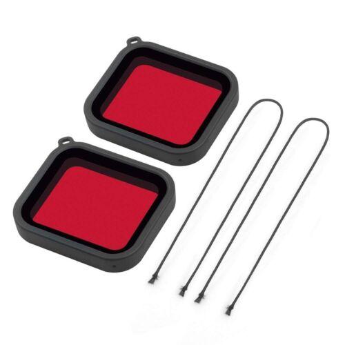 1X Camara submarina Filtro de correccion de color rojo para Go Pro Hero6 He 5Y5